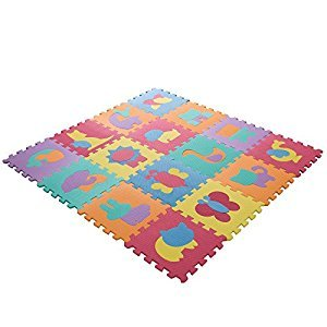 Hey! Play! Foam Floor Animal Learning Mat Puzzle