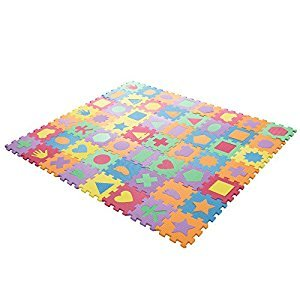 Hey! Play! Foam Floor Shapes Learning Mat Puzzle