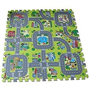 Meitoku Baby play Puzzle Floor mat,9pcs/bag,Each piece30*30cm Thick 1cm