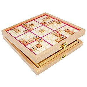 Andux Land Wooden Sudoku Board Box 3-in-1Number Place Toy SD-03 (Pink)