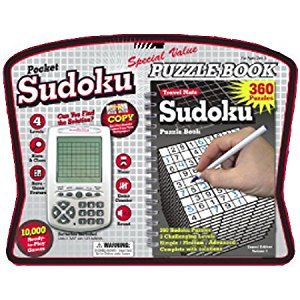 Sudoku Pocket Electronic Game with Puzzle Book by Binary Arts
