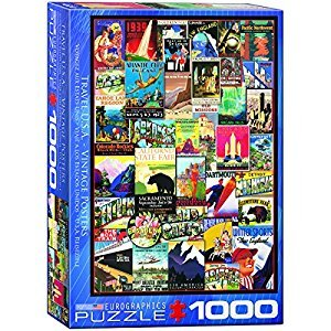Eurographics 6000-0754 Travel USA Vintage Ads 1000-Piece Puzzle