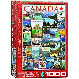 Eurographics 6000-0778 Travel Canada Vintage Ads 1000-Piece Puzzle