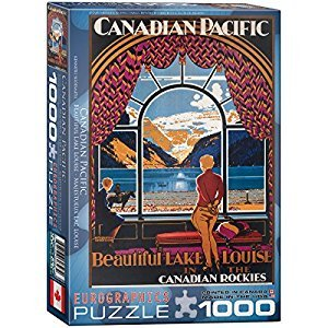 Eurographics CP Rail Beautiful Lake Louise 1000-Piece Puzzle