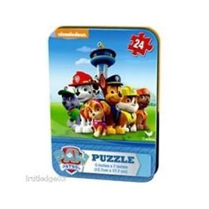 PAW Patrol PUZZLE -24 Piece Puzzle in a Mini Tin Puzzle CHASE MARSHALL RUBBLE ROCKY SKYE ZUMA-