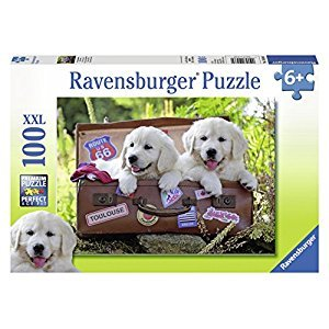 Ravensburger Traveling Pups Puzzle (100-Piece)