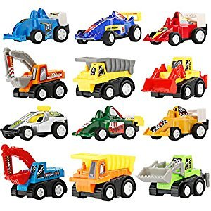 Boy Toys Trucks for Kids, 12 Pcs Mini Toy Cars and Trucks Party Favors for Kids Toddlers