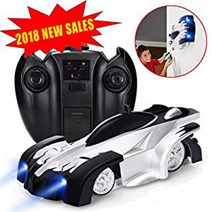 Remote Control Car Wall Climber RC Car - J-DEAL Mini Climbing Vehicle with Radio Control, Dual Mode 360° Rotating Stunt Car, Home Gravity Toy Car, Children Sport Racing Vehicle, Rechargeable Kids Elec