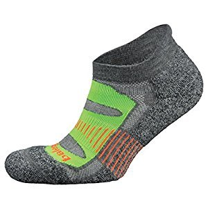 Balega Blister Resist No Show Socks For Men and Women, Charcoal Lime, Medium
