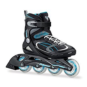 Bladerunner Advantage Pro XT W Recreational Skate with Abec 7 Skate Bearings, Black/Light Blue, Size 8