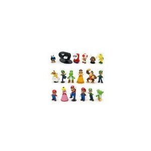 Lujex Super Mario Bros Figure Toy 18Pcs Doll 1-3