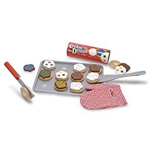 Melissa & Doug Slice and Bake Wooden Cookie Play Food Set