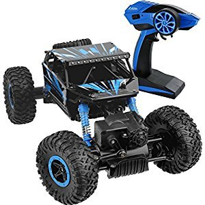 Click N' Play Rock Crawler RC Car Blue Vehicle