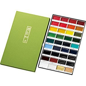 Kuretake Picture Letter Gansai Tanbi, 36 Color Set (MC20/36V )