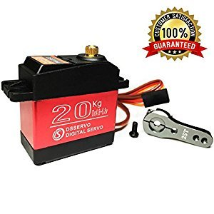ANNIMOS Digital High Torque Servo 20KG Full Metal Gear Waterproof for RC Model DIY,180°