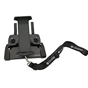 Lekufee Lightweight Aluminum-Alloy Foldable Tablet Stand Holder with Lanyard for DJI Spark, Mavic Pro Remote Controller