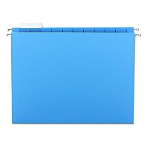 Smead Hanging Folder, Letter, 1/5 Cut Tab, Blue, 25 Per Box (64060)