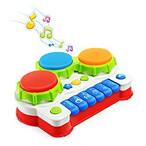 Baby Toys,Baby Music Toys Musical Instruments Play Piano and Keyboards,NextX Drum Set for Excavate Baby Musical Talent