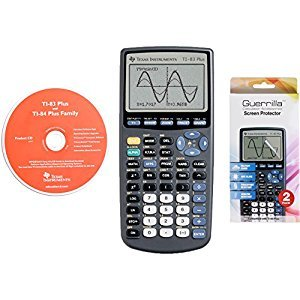 Texas Instruments TI 83 Plus Graphing Calculator With Guerrilla Military Grade Screen Protector Set (Certified Refurbished)