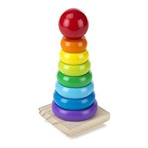 Melissa & Doug Rainbow Stacker Wooden Ring Educational Toy