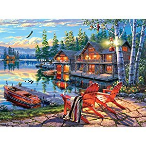 Buffalo Games Darrell Bush: Loon Lake Jigsaw Puzzle (1000 Piece)