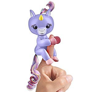 Fingerlings Baby Unicorn - Alika (Purple with Rainbow Mane and Tail) - Friendly Interactive Toy by WowWee
