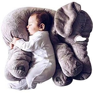 KiKi Monkey Baby Grey Stuffed Elephant Plush Pillows Pre-Kindergarten Toys